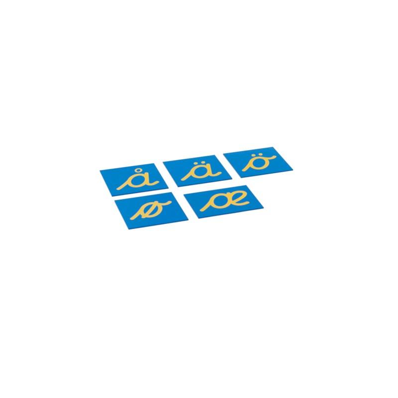 Sandpaper Letters: Nordic Cursive - Supplement Set