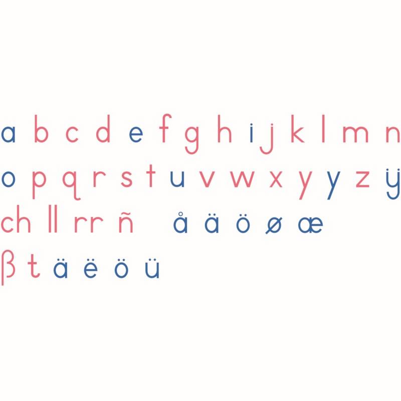 Large Movable Alphabet: International Print