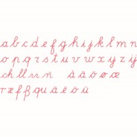 Medium Movable Alphabet: International Cursive - Red