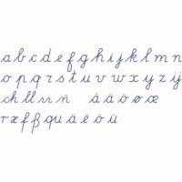Medium Movable Alphabet: International Cursive - Blue