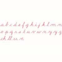 Medium Movable Alphabet: US Cursive – Red