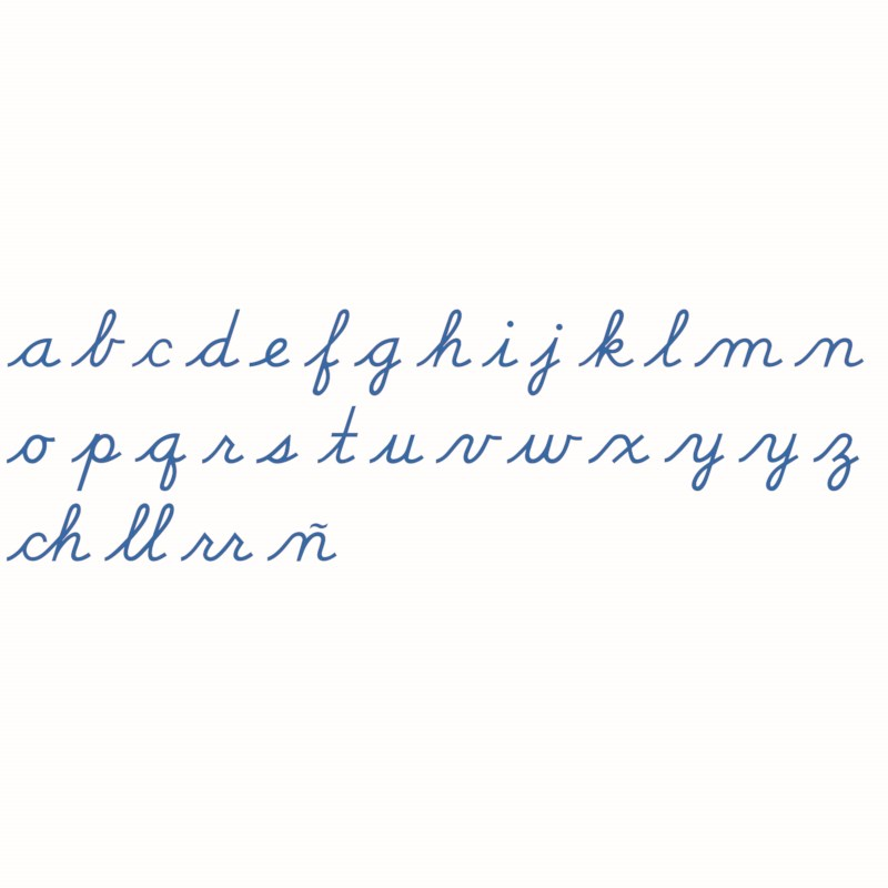 Medium Movable Alphabet: US Cursive – Blue