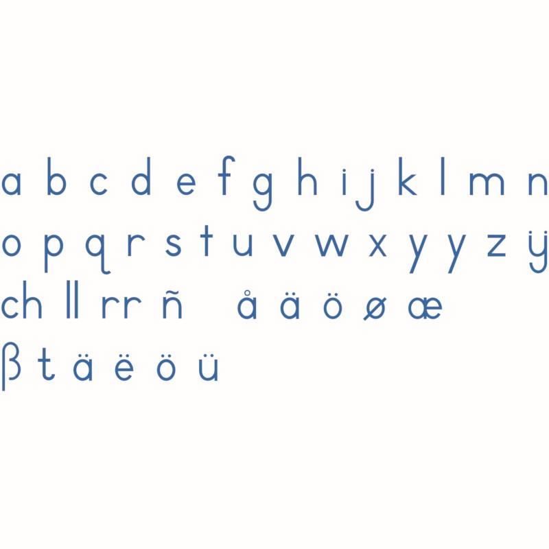 Medium Movable Alphabet: International Print - Blue