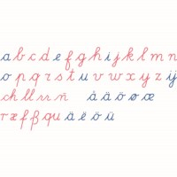 Wooden Movable Alphabet: International Cursive