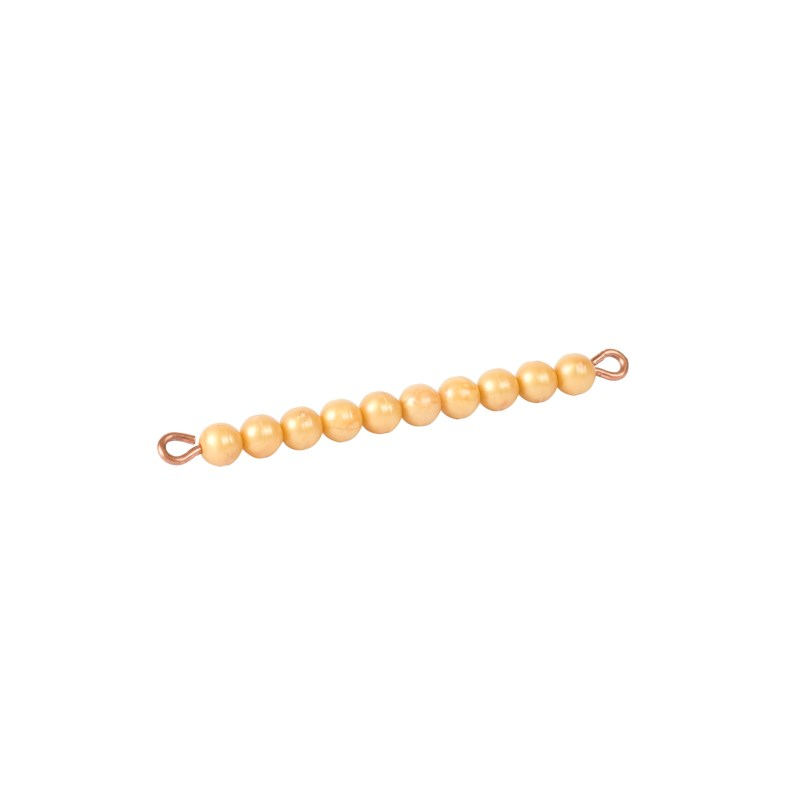 Golden Bar Of 10: Individual beads Nylon