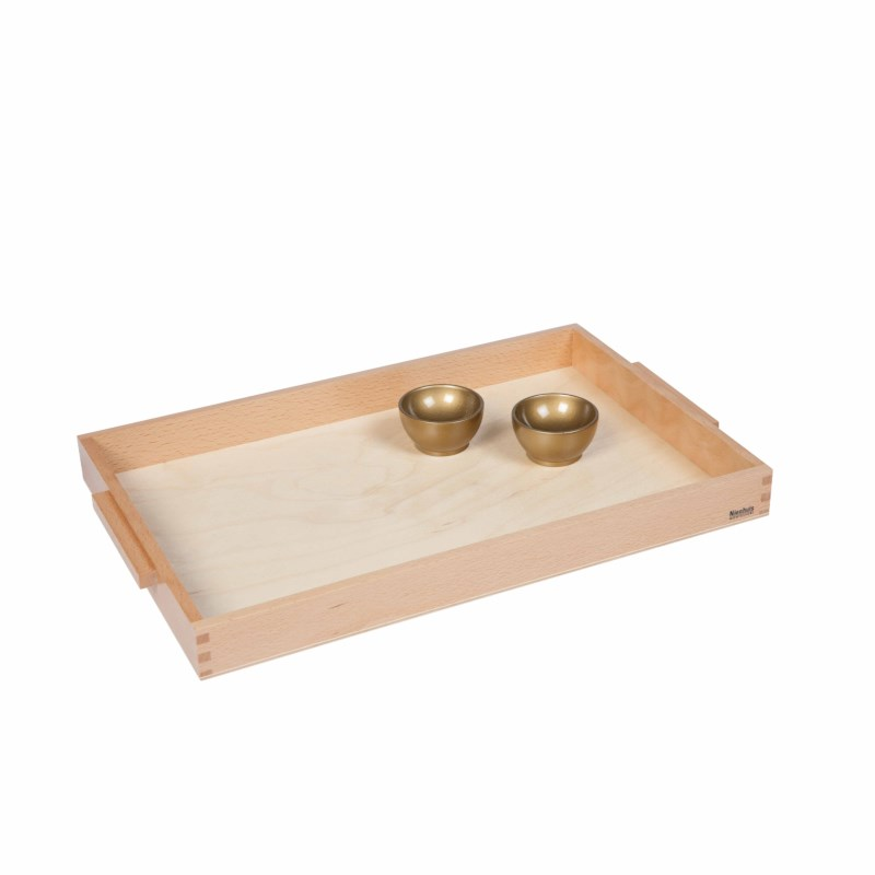Wooden Tray With 2 Unit Cups