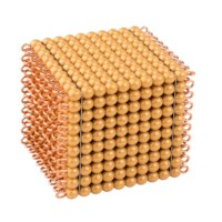 One Golden Bead Cube Of 1000: Individual Beads (Nylon)