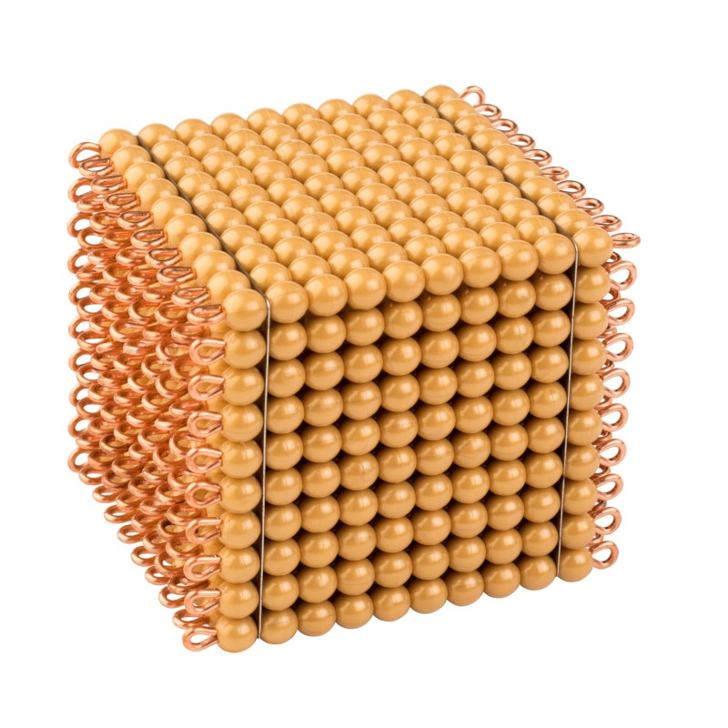 One Golden Bead Cube Of 1000: Individual Beads (Nylon)