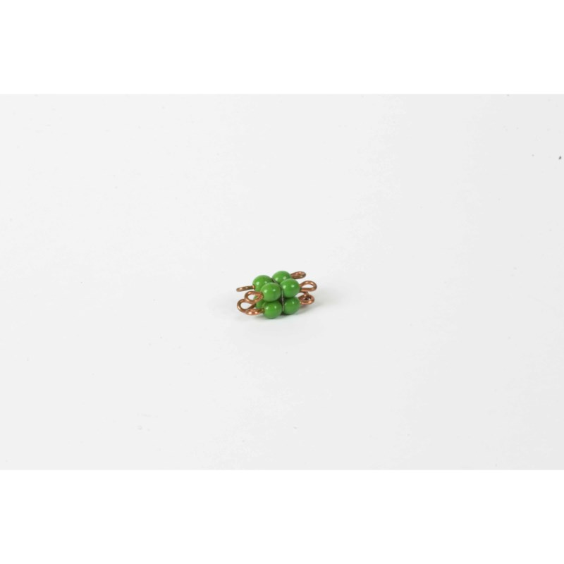 Individual Glass Bead Cube Of 2: Green