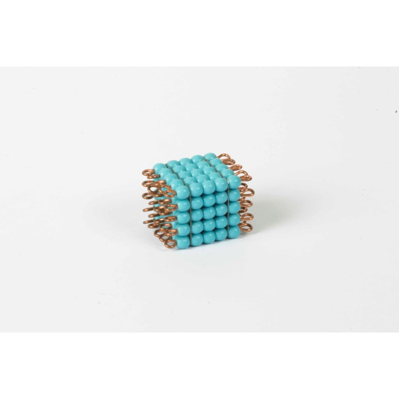 Individual Glass Bead Cube Of 5: Light Blue