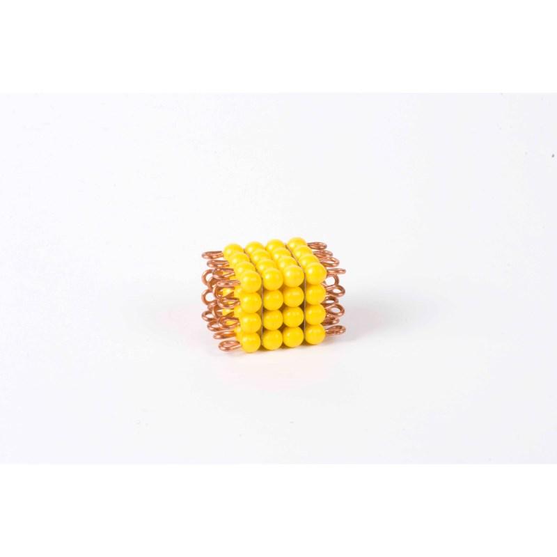 Individual Nylon Bead Cube Of 4: Yellow