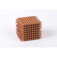 Individual Nylon Bead Cube Of 8: Brown