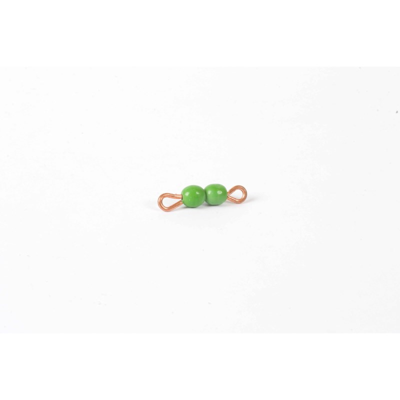 Individual Glass Bead Bar Of 2 : Green