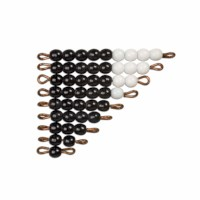 Black And White Bead Stairs - Individual Beads: 1 Set (Glass)