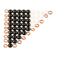 Black And White Bead Stairs - Individual Beads: 1 Set (Nylon)