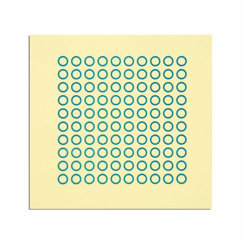 Sheet With 100 Circles