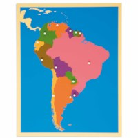 Puzzle Map: South America