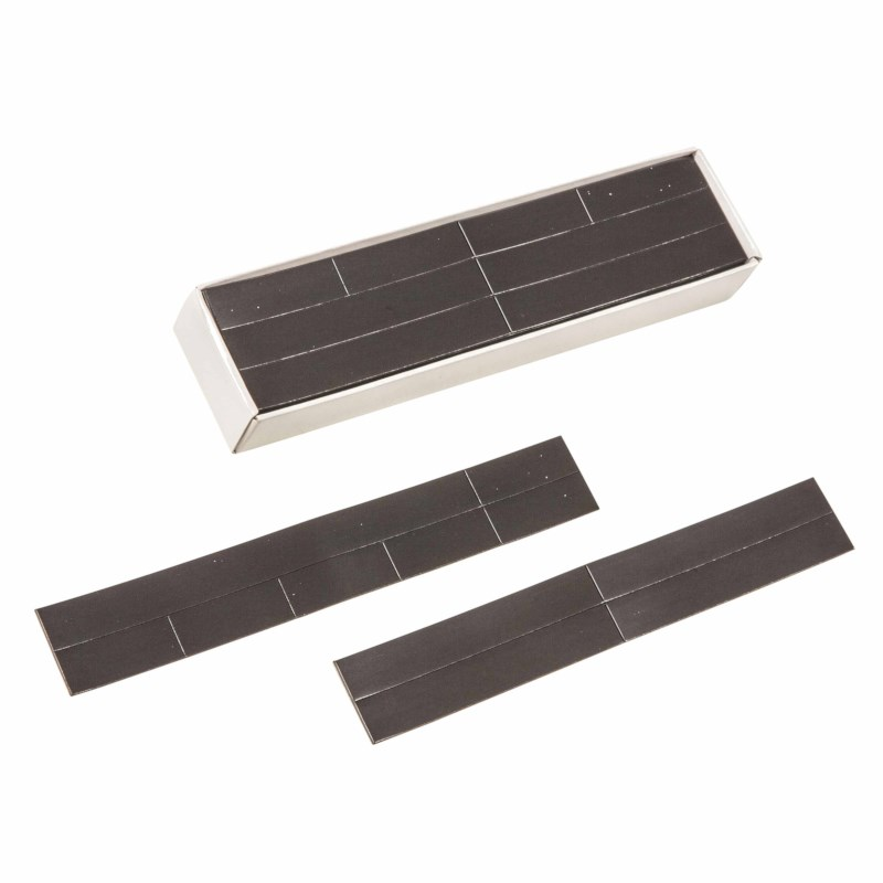 Magnetic strips self-adhesive