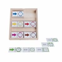 Clock dominoes analogue-digital