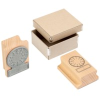 Clock stamp analogue - digital 24 hours