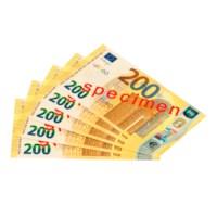 Euro banknotes 200 euro