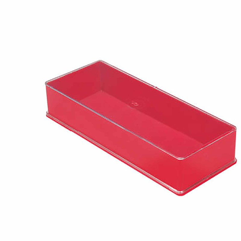 Box red 18.4 x 6.8 x 3.4 cm