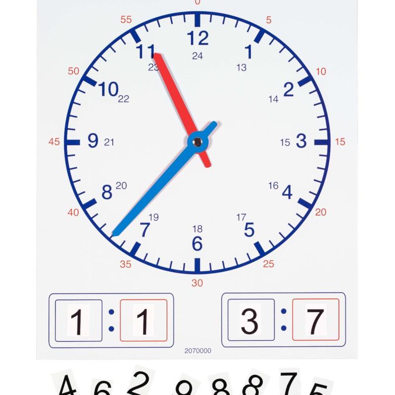 Clock magnetic teacher