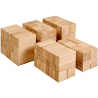 Large wooden building blocks (156 blocks)