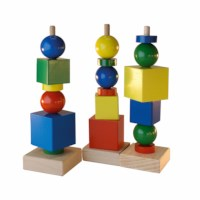 Shapes tower in cardboard box