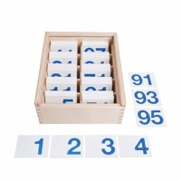 Number cards magnetic up to 100