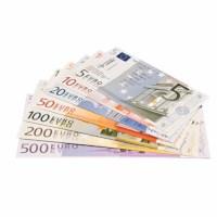 Euro banknotes set