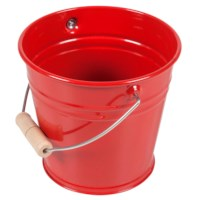 Small Metal Bucket (Red)