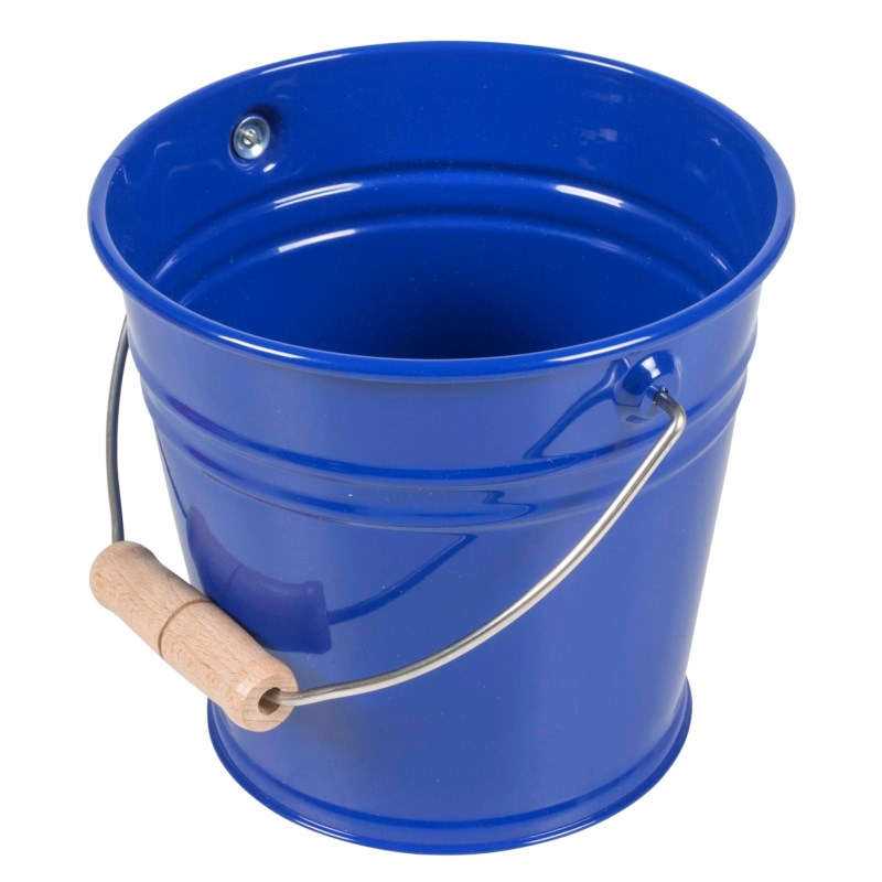 Small Metal Bucket (Blue)