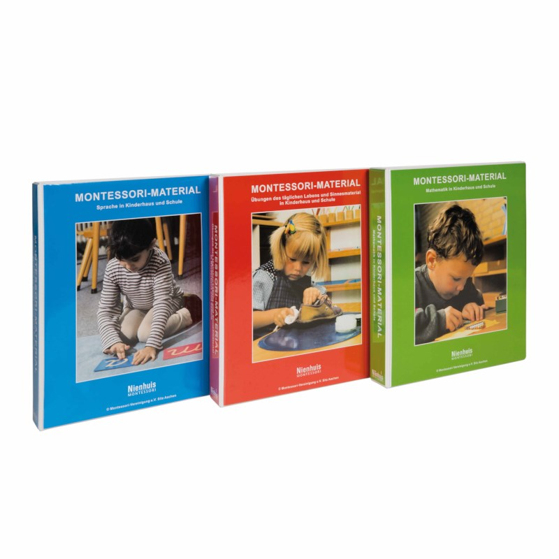 3 Montessori Materials Books (German version)