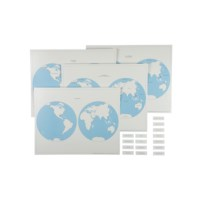 Hemisphere Maps And Labels Set