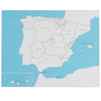Spain Control Map: Labeled