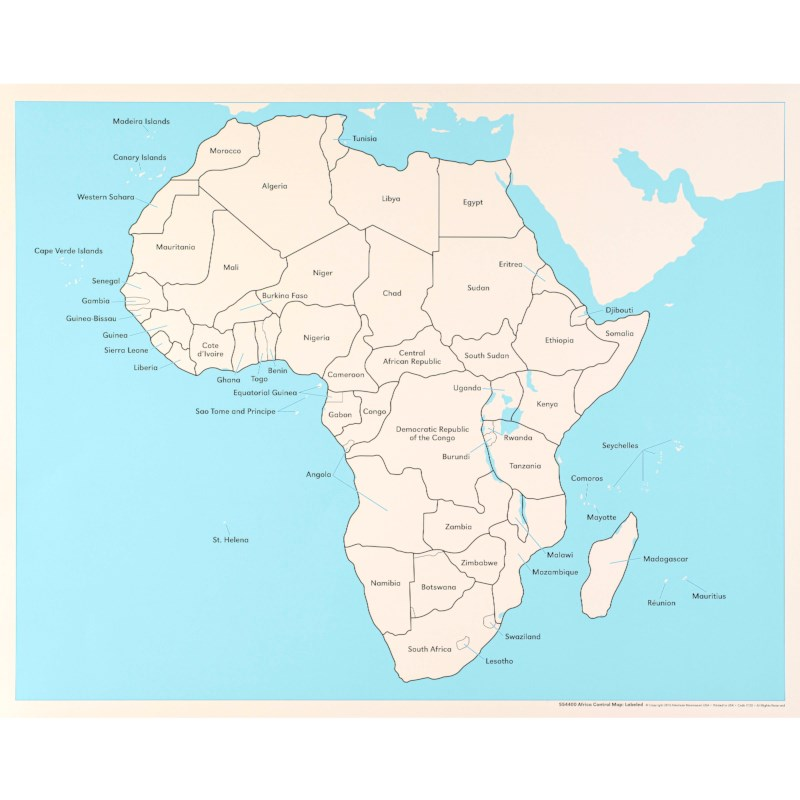 Map Of Africa Labeled.Africa Control Map Labeled