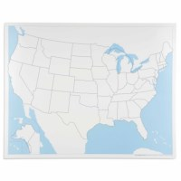 United States Control Map: Unlabeled