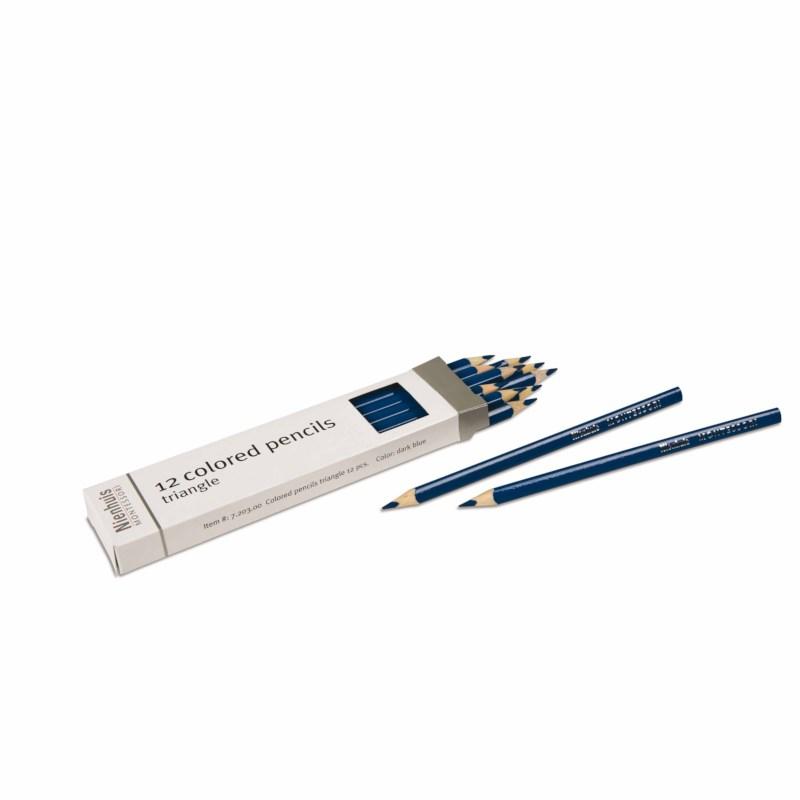 3-Sided Inset Pencils: Dark Blue