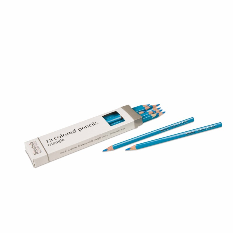 3-Sided Inset Pencil: Light Blue