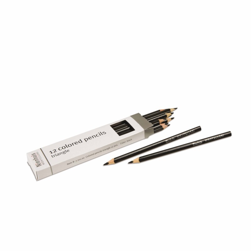 3-Sided Inset Pencils: Black