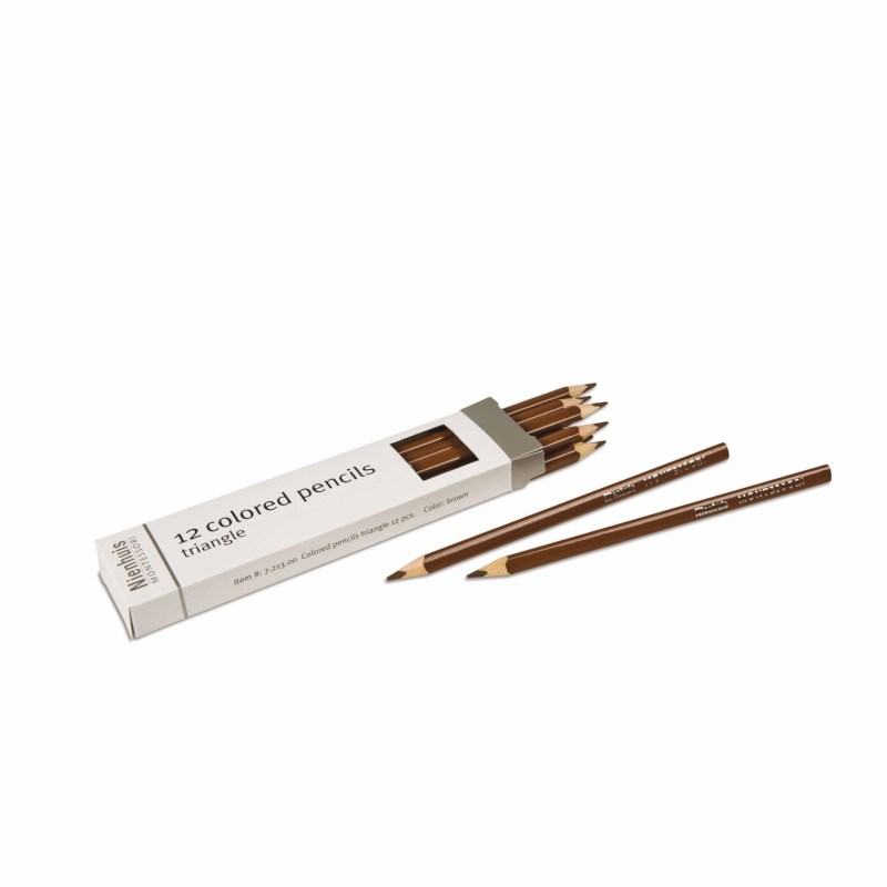 3-Sided Inset Pencils: Brown
