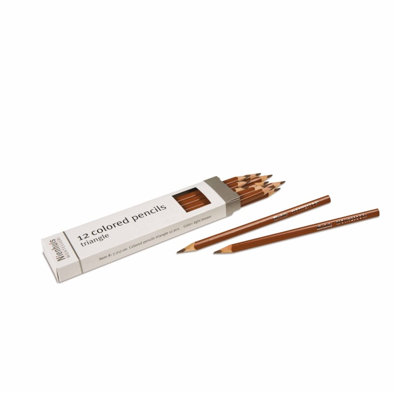 3-Sided Inset Pencil: Light Brown