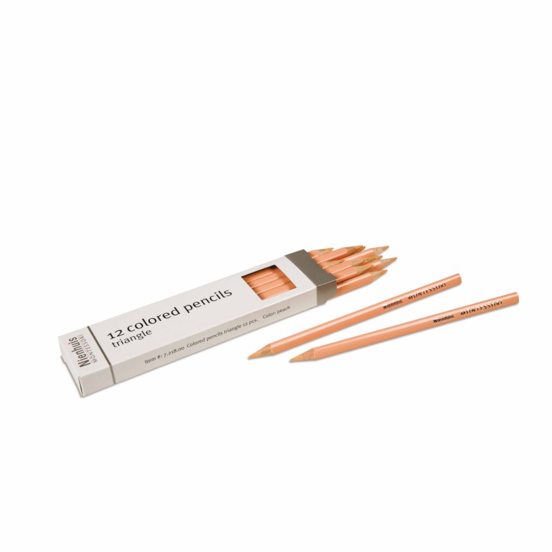 3-Sided Inset Pencils: Peach