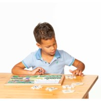 Math puzzles number sense - set of 4 l Wooden puzzles l Educo