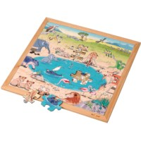 Vocabulary puzzle – savannah l Wooden puzzles l 49 puzzle pieces l Educo