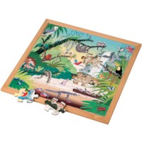Vocabulary puzzle tropical forest l Wooden puzzles l 49 puzzle pieces l Educo