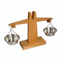 Small Wooden Scale