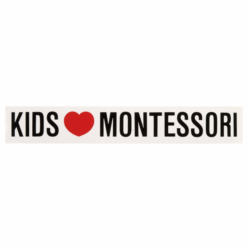 Vinyl Sticker: Kids Love Montessori