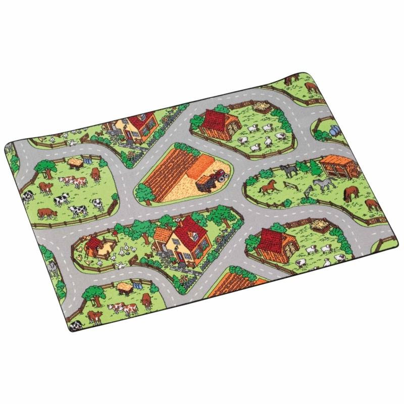 Traffic play mat farm 150 x 200 cm